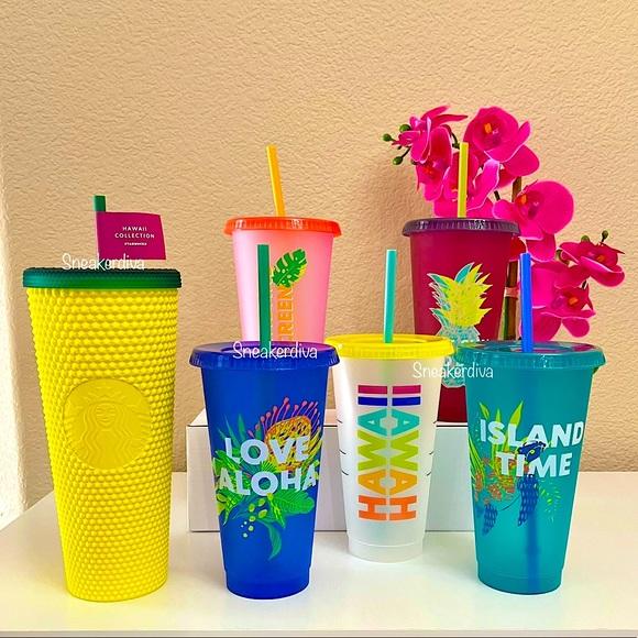 Starbucks🍍pineapple/Hawaii Aloha🌴🌺cold cups set